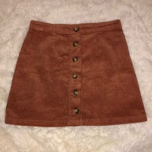 Forever 21 Corduroy Button Down Skirt